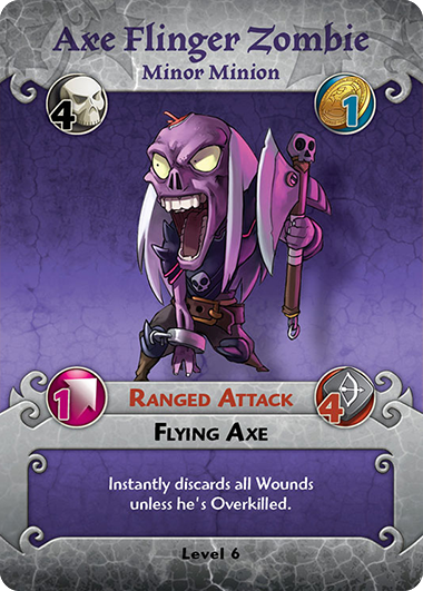 Axe Flinger Zombie profile card